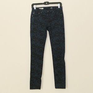 AG Jeans Legging Lace Floral Skinny Jeans 26 R